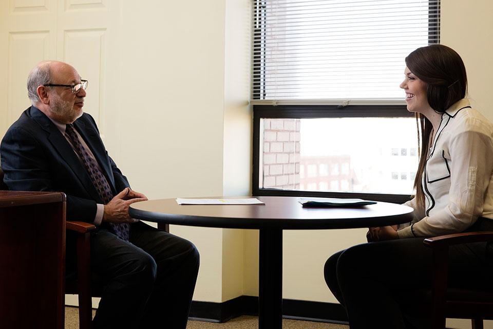 Dr. Raymond Love Interviews a Prospective Student Pharmacist